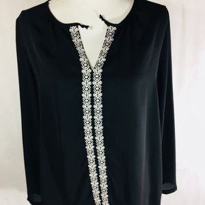Harlowe & Graham embroidered blouse A4-086